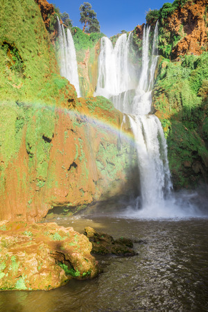waterfall: Ouzoud waterfalls Grand Atlas in Morocco