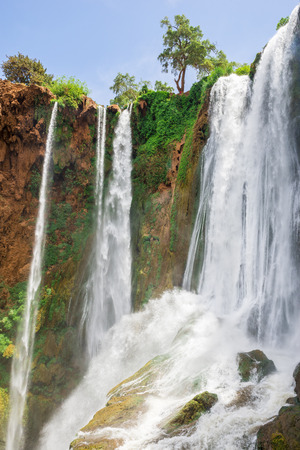 atlas: Ouzoud waterfalls Grand Atlas in Morocco