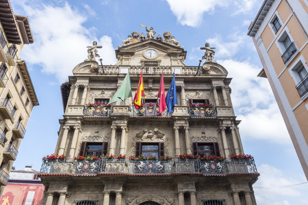 assembly hall: Town hall of Pamplona, Spain