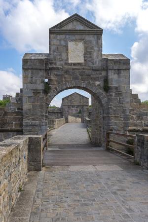 citadel: Gate of the Citadel of Pamplona, Spain