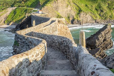 steps and staircases: Path to San Juan de Gaztelugatxe, Spain