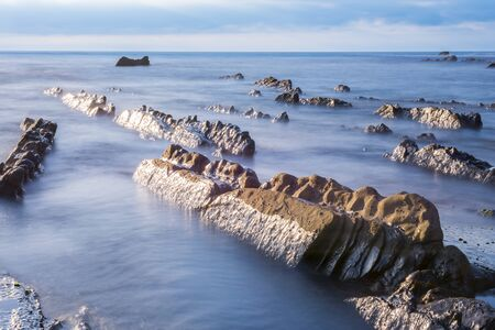 sediments: Beach of Barrika, Bizkaia, Basque Country, Spain
