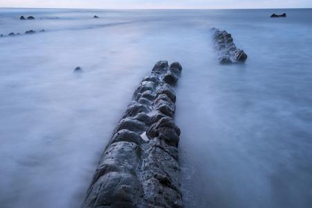 basque country: Beach of Barrika, Bizkaia, Basque Country, Spain