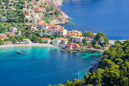 kefallonia: Assos village, Kefalonia island, Greece Stock Photo