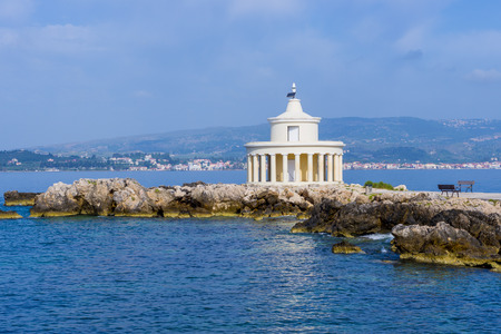 kefallinia: Lighthouse of St. Theodore at Argostoli, Kefalonia island in Greece Stock Photo