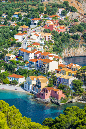 kefalonia: Assos village, Kefalonia island, Greece Stock Photo