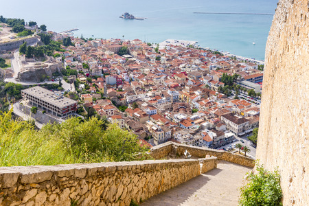 nauplio: Nafplion village seen from Palamidi Castle, Greece