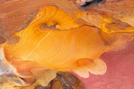 sediments: Colorful rocks in the valley of Labetxu, Jaizkibel, Basque Country, Spain