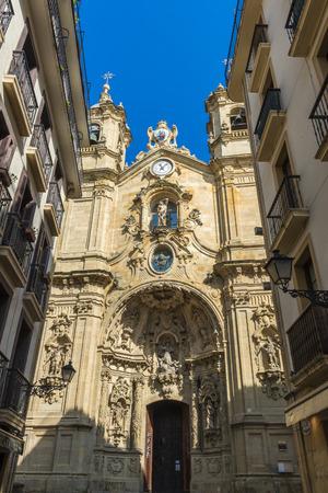 santa maria: Church of Santa Maria del Coro in Donostia, Spain Stock Photo