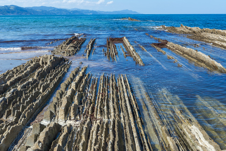 sediments: Flysch in Zumaia, Basque Country, Spain