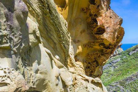 canto: Sandstone in Gran Canto zone of Jaizkibel, Basque Country, Spain