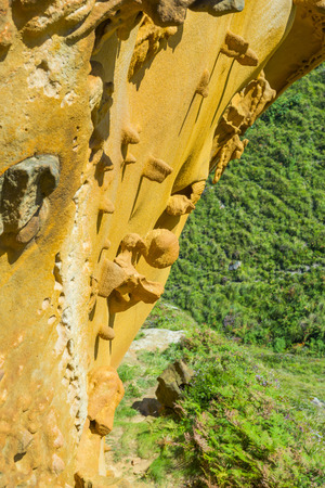 canto: Sandstone in Gran Canto zone of Jaizkibel, Basque Country, Spain