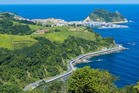 Coast of Basque Country, Getaria, Spain Imagens - 45074141