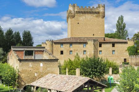 rioja: Castle of Cuzcurrita of Tiron river, La Rioja, Spain Editorial