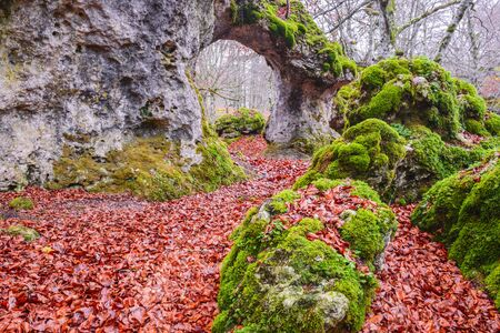 natural arch: Natural arch of Zalamportillo, Entzia mountain range, Spain