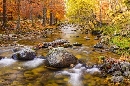 rioja: Iregua river at Sierra Onion Natural Park, La Rioja, Spain