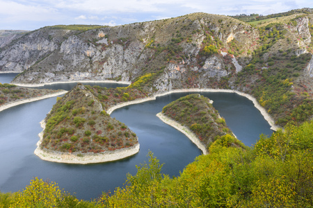 meander: Meander of the river Uvac, Serbia Stock Photo