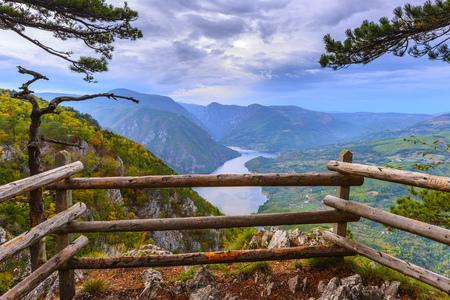 Tara 국립 공원, 세르비아에서 관점 Banjska stena 스톡 콘텐츠