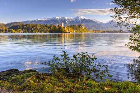 bled: Lake Bled, Slovenia Stock Photo