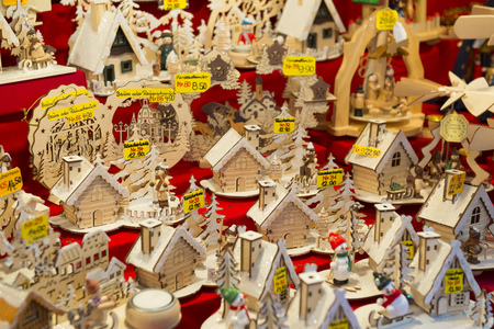 christkindlmarkt: Stand at Christmas Market in Nuremberg, Germany Editorial