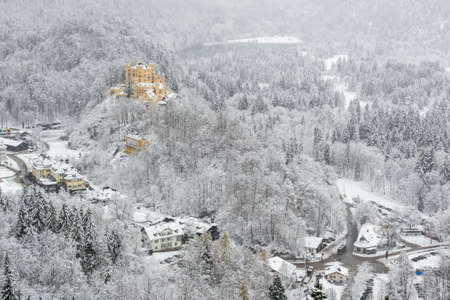 ludwig: The Bavarian Alps with Hohenschwangau castle, Germany Editorial