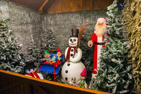 weihnachtsmarkt: Decoration of the Christmas Market at Munich Residence in Munich, Germany
