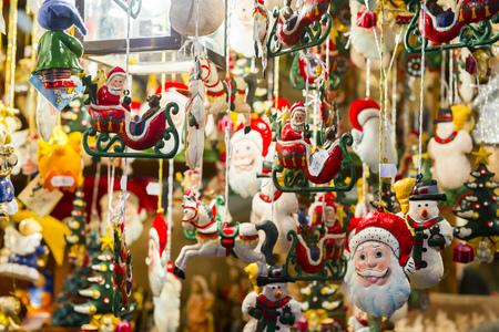 Stand at Christmas Market in Nuremberg, Germany 写真素材