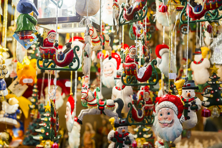 Stand at Christmas Market in Nuremberg, Germany Stockfoto