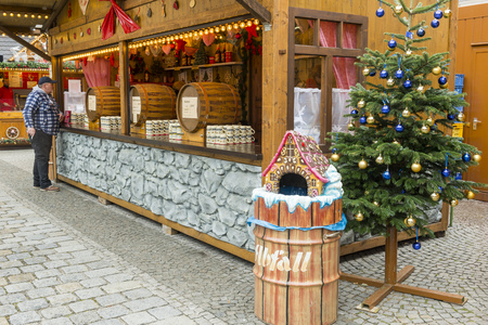 christkindlmarkt: Christmas Market at Munich Residence  on November 30, 2015 in Munich, Germany