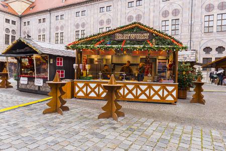 residenz: Christmas Market at Munich Residence  on November 30, 2015 in Munich, Germany