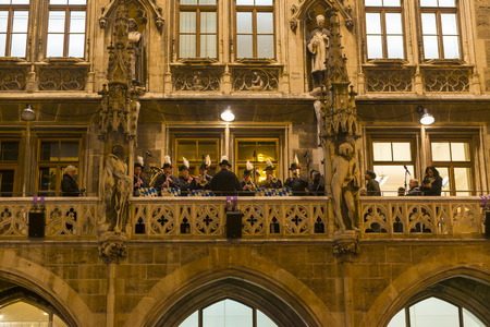 Opening ceremony of the Christmas Market at Marienplatz   on November 27, 2015 in Munich, Germany Editorial