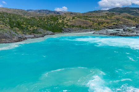 confluence: Confluence of river Baker and river Neff, Chile