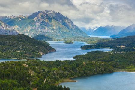 lake nahuel huapi: Nahuel Huapi National Park from Cerro Campanario near Bariloche, Argentina Stock Photo