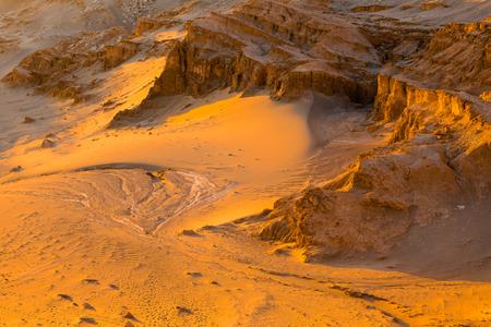 san pedro: Salt Mountain Range Cordillera de la Sal, San Pedro de Atacama, Chile Stock Photo