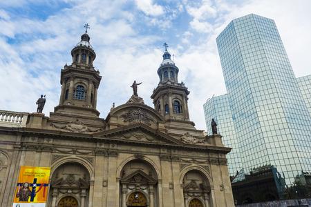 plaza of arms: Metropolitan Cathedral, Plaza de Armas in Santiago de Chile