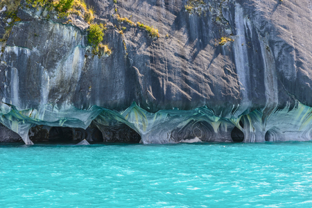 Marble Caves of Lake General Carrera, Chile Imagens - 56715938