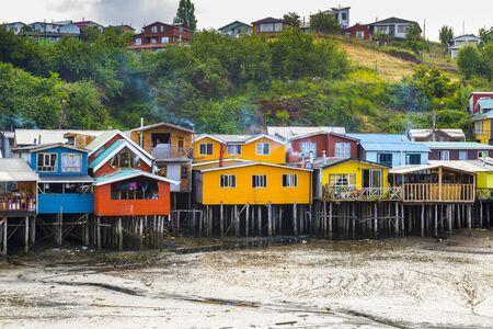 pillage: Stilt houses in Castro, Chiloe island, Chile Stock Photo
