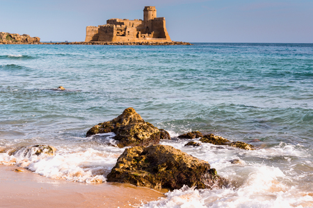 Castle of Le Castella at Capo Rizzuto, Calabria, Italy