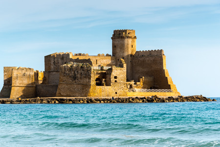either: Castle of Le Castella at Capo Rizzuto, Calabria, Italy Editorial