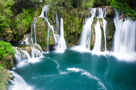 Waterfalls of Martin Brod on a national park, Bosnia and Herzegovina