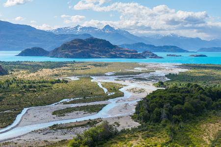 Lake General Carrera, Chile Stock fotó