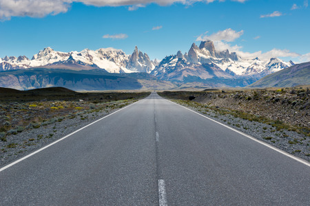 el chalten: Cerro Torre & Fitz Roy from Route 23, El Chalten, Argentina