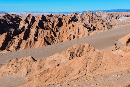san pedro: Salt Mountain Range, San Pedro de Atacama, Chile Stock Photo