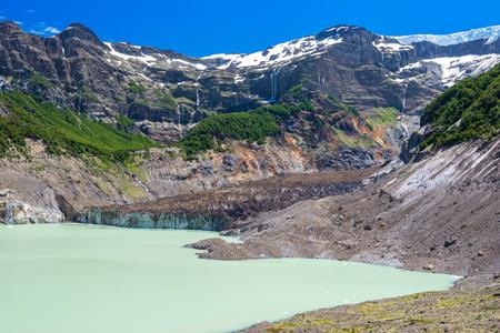 lake nahuel huapi: Black glacier, Nahuel Huapi National Park, Argentina