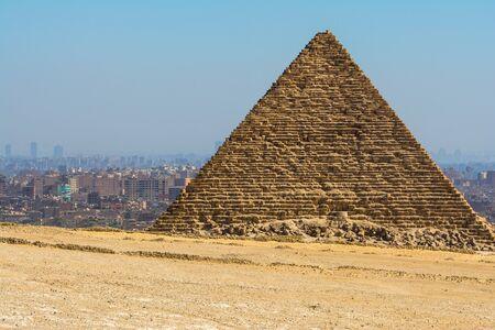 egyptology: Pyramid of Menkaure, Giza, Egypt
