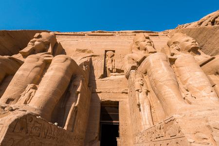 abu simbel: The Great Temple of Abu Simbel, Egypt Editorial