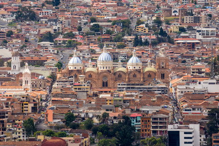 cuenca: New cathedral of Cuenca from Turi lookout, Ecuador