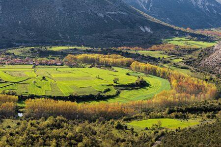 meanders: Meanders of Ebro river, Burgos, Spain