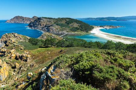 大西洋諸島、ガリシア、スペインの Cies 諸島地上海上国立公園