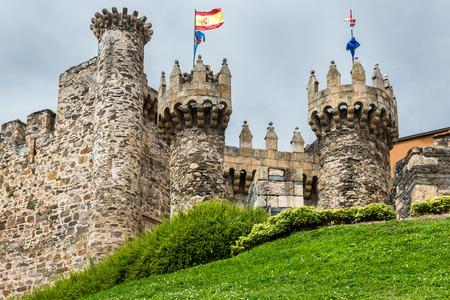 Templar castle of Ponferrada, province of Leon, Spain